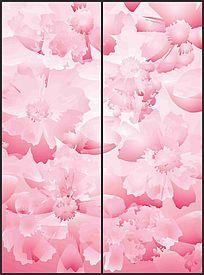 粉色花瓣移门图案 CDR