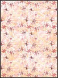 现代花瓣花纹移门图案 CDR