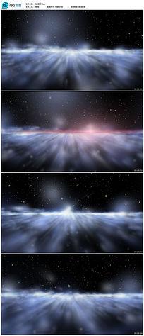 星光灿烂多彩星空动态背景视频素材