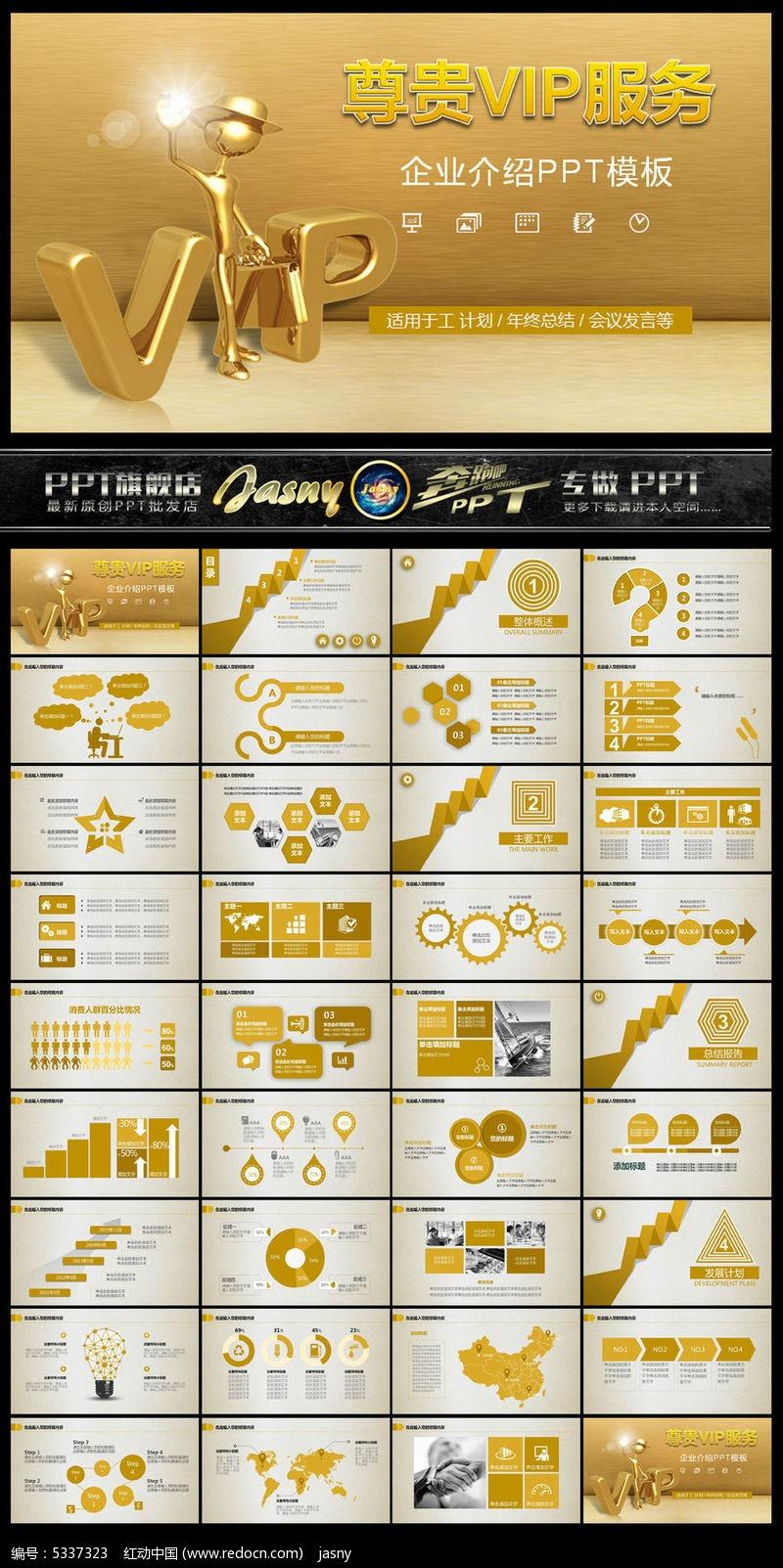 尊贵vip服务介绍ppt模板