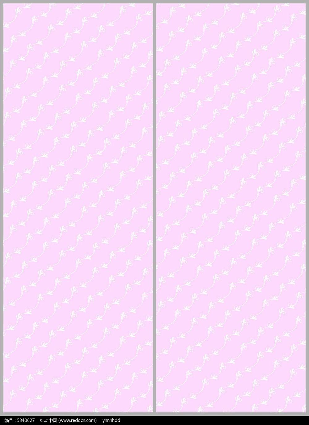 淡粉可爱花纹移门图案