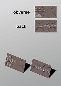 单色创意图案名片
