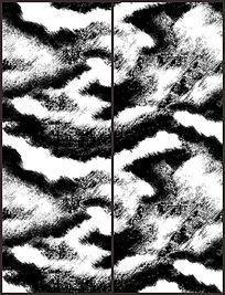 黑白色调花纹移门图案