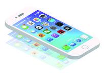 iphone6s框架矢量模型图 AI