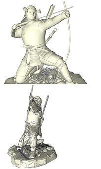 射剑的英雄人物SU模型
