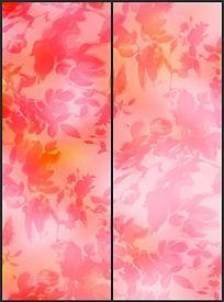 温馨时尚连续花纹移门图案