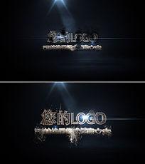 震撼大气火花金属质感标志logo演绎ae模板
