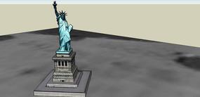 自由女神景观雕塑SU模型