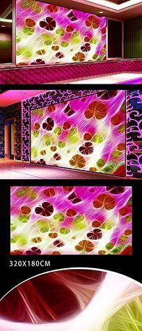 KTV酒吧炫丽色彩背景墙