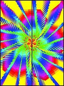幻彩变幻花朵图案移门图案