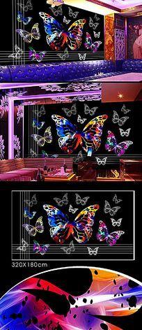蝴蝶背景墙