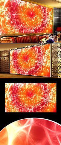 火焰色彩装饰墙