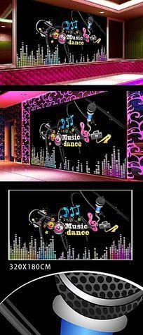 酒吧音乐电视墙