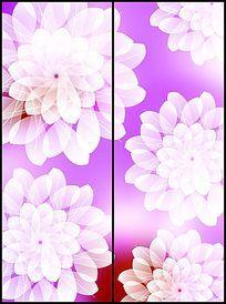 时尚温馨唯美花朵花纹移门图案