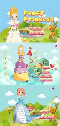 原创美丽公主完整成套flash游戏AI素材