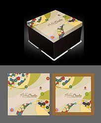 蛋糕包装盒设计模版
