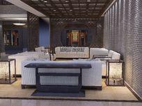 高端中式家具卖场布置3D效果模型