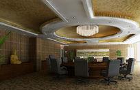 高级会议室装修设计3D模型素材