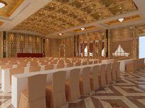 高级欧式会议室装修设计3D素材资料