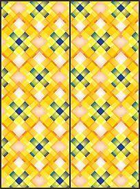 黄色现代时尚菱形几何移门图案