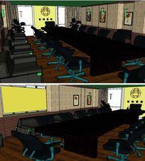 会议室草图大师SU模型