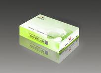 简洁绿色环保清新抽纸盒设计cdr矢量图