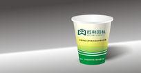 简约绿色清新纸杯盒包装设计cdr矢量