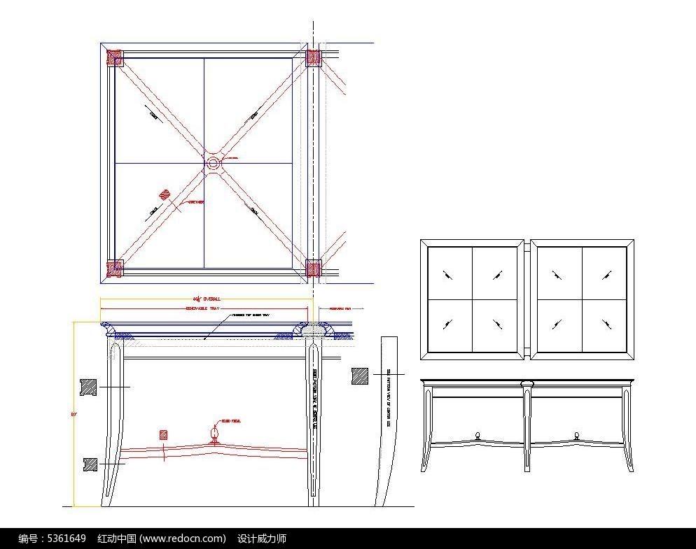 托图片图纸汽车拉线脚咖啡盘式桌CAD弧形cad仪表盘方形面板图片