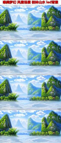唯美风景场景桂林山水led背景视频素材