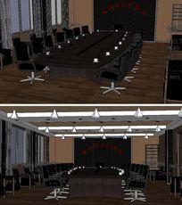 医院会议室SU模型
