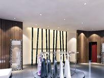 服装店面3D装修设计模型素材资料