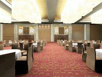 高级酒店餐厅公共大厅3D模型素材资料