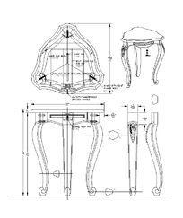 弧形三角桌CAD素材