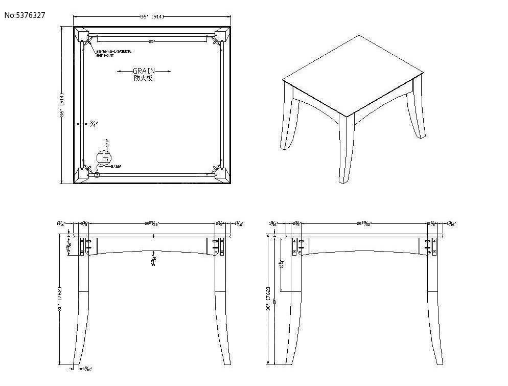 美式图纸方形cad线条_CAD餐桌图片素材cad选中怎么素材图片