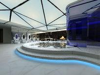 男公共浴池3D效果模型