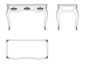 欧式雕花餐桌CAD素材