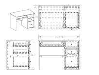 三抽屉电脑桌办公桌CAD素材