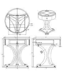 三弧脚圆桌CAD素材