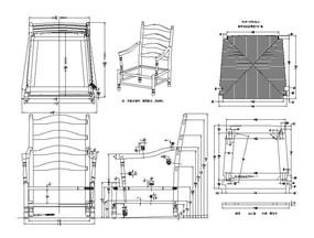 草席座垫单人椅CAD素材 dwg