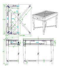 方形几三视图CAD素材
