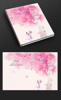 粉色情人节画册封面