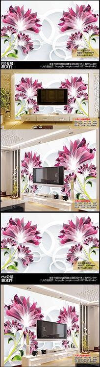 高端大气3D电视背景墙下载