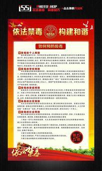禁毒宣传展板挂画