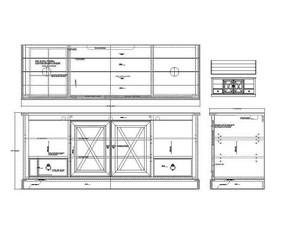 美式多功能电视柜CAD素材