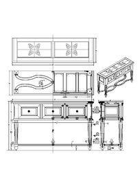 拼花半桌CAD素材