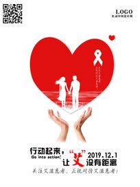 情侣预防艾滋海报