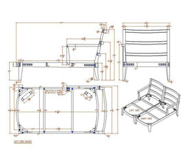 现代实木贵妃椅图纸CAD素材 dwg