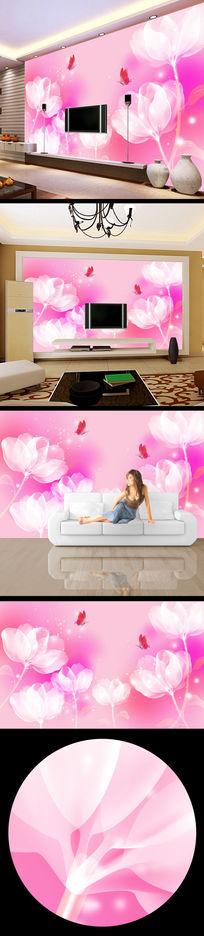 鲜花浪漫花朵花纹背景墙