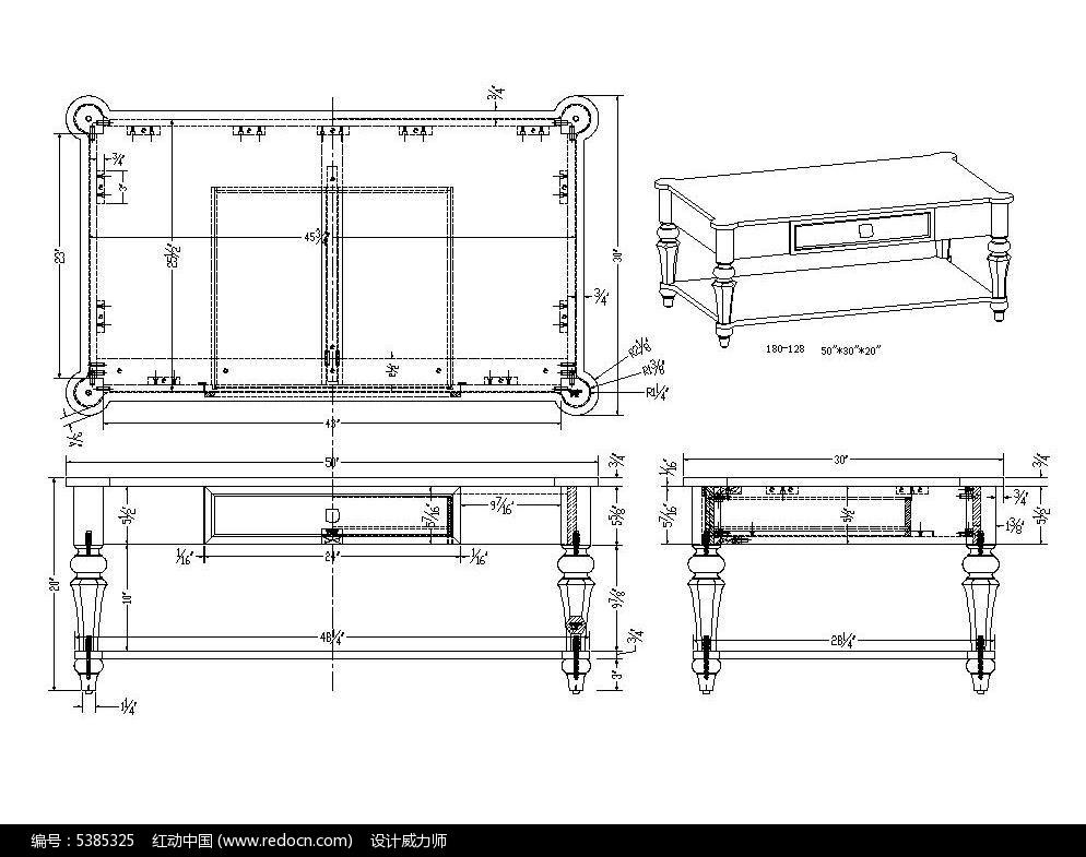 素材圆角CAD茶几32cad2010位天正和图片