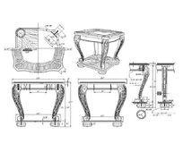 雕花脚端桌CAD素材